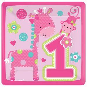 """lekstute 1 gimtadienis rozine Rožinės lėkštutės """"Pirmasis gimtadienis"""""""