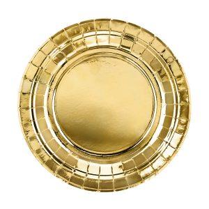 lekstute auksine 1 Auksinės apvalios lėkštutės