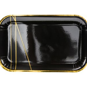 lekstute juoda aukso bruksnys 1 Stačiakampės juodos lėkštutės