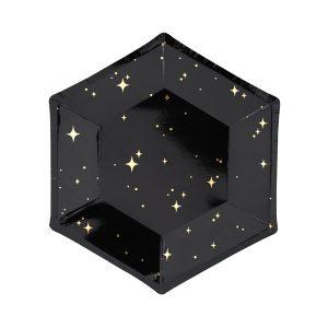 """lekstute juoda aukso zvaigzdes Lėkštutės """"Juodoji naktis"""""""