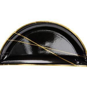 lekstute juoda puse aukso bruksnys 1 Išskirtinės formos juodos lėkštutės
