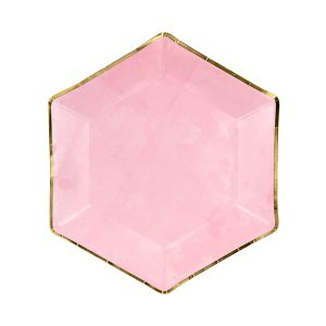 lekstute rozine auksine 1 Rožinės lėkštutės aukso krašteliais