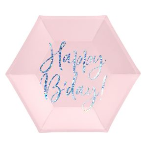 """lekstute rozine gimtadienis 1 Rožinės lėkštutės """"Happy B'day"""""""