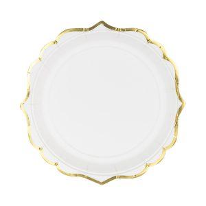 lekstutes balta auksas 1 Baltos lėkštutės aukso krašteliais