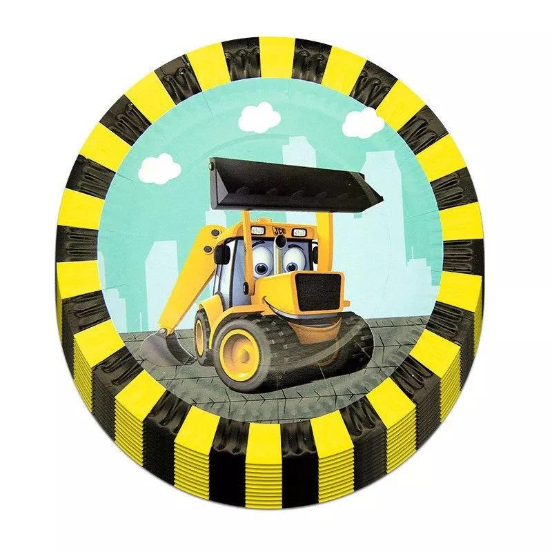 """leksutes traktorius Lėkštutės """"Geltonas traktoriukas"""""""