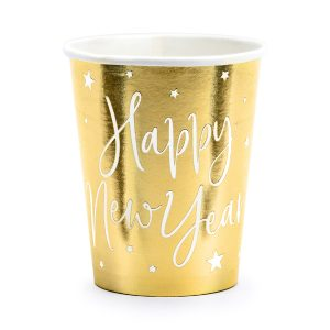 "puodeliai auksas new year 1 Puodeliai ""Happy New Year"""