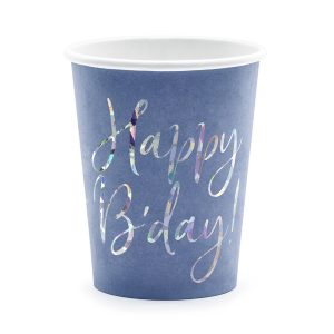 "puodelis melynas gimtadienis 1 Melsvi puodeliai ""Happy B'day"""
