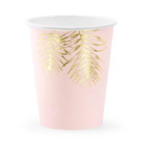 """puodelis rozinis lapelis 1 Puodeliai """"Aukso lapeliai"""""""