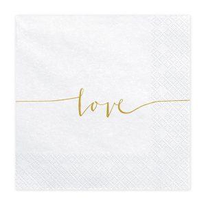 "serveteles balta love 1 Servetėlės ""Love"""