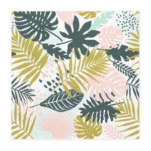 serveteles havajai Servetėlės su lapų motyvais