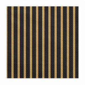 serveteles juoda auksine dryziai 1 Juodos servetėlės su aukso dryželiais