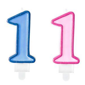 """zvakute dviguba 1 1 Žvakutė skaičius """"1"""""""