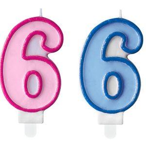 """zvakute dviguba 6 2 Žvakutė skaičius """"6"""""""