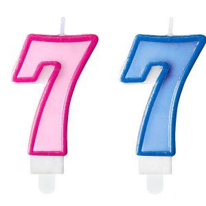 """zvakute dviguba 7 Žvakutė skaičius """"7"""""""