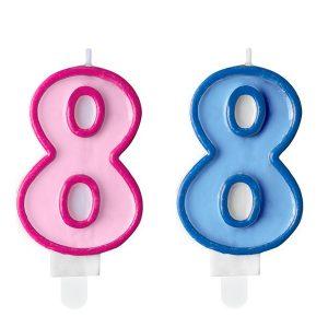 """zvakute dviguba 8 Žvakutė skaičius """"8"""""""