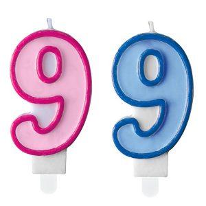 """zvakute dviguba 9 Žvakutė skaičius """"9"""""""