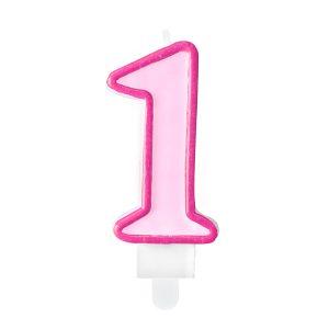 """zvakute rozine 1 Žvakutė skaičius """"1"""" - Rožinė"""