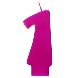 zvakute rozine maza 1 Rožinė žvakutė skaičius nuo 0 iki 9