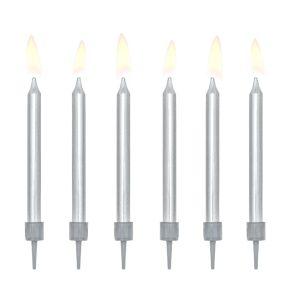 zvakutes sidabrine Sidabrinės gimtadienio žvakutės