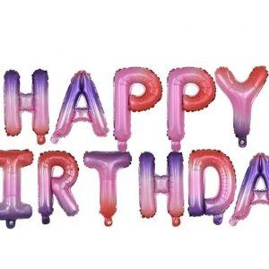 """126285184 3787438554611250 1741327800427298935 n Folinių balionų užrašas """"HAPPY BIRTHDAY"""""""