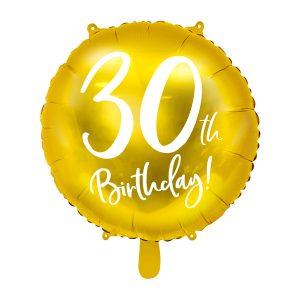 """balionas auksinis apvalus 30 gimtadienis 1 Folinis balionas """"30"""""""