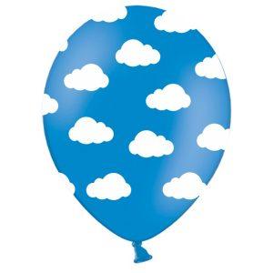 debeseliai melyna 1 Balionas su debesėliais