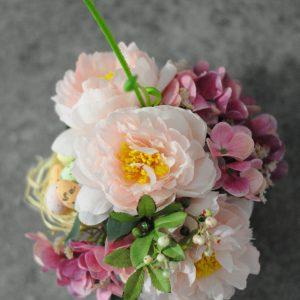geles rozine 2 scaled Rožinė dirbtinių gėlių kompozicija