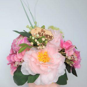 geles rozines scaled Rožinė dirbtinių gėlių kompozicija MAMAI