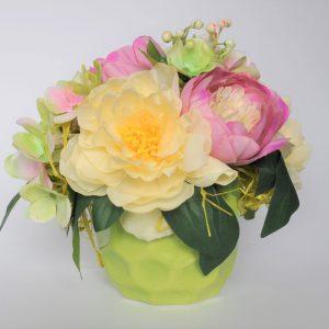 geles zalios scaled Dirbtinių gėlių kompozicija