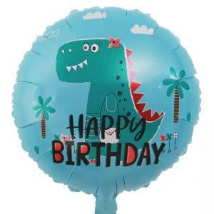 """happy dinozauras Folinis balionas""""""""Happy Birthday"""" su dinozauru"""
