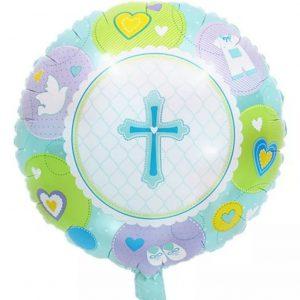 krikstynoms zydras Folinis balionas krikštynoms su kryželiu