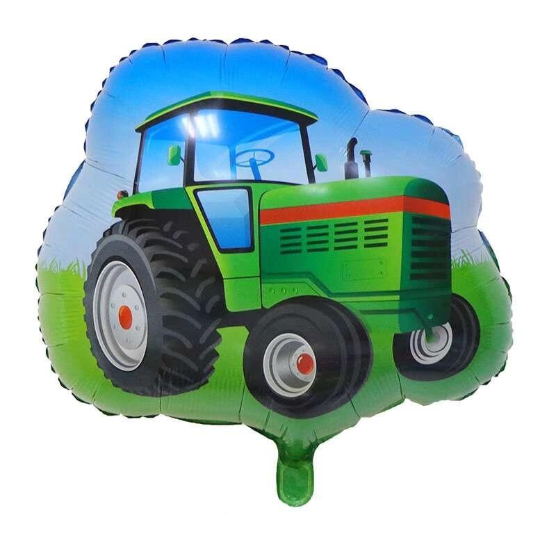 traktorius-zalias