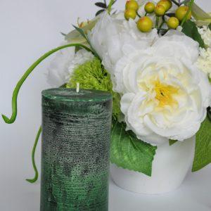 zalia stora zvake scaled Rankų darbo obuolių aromato žvakė (didelė)