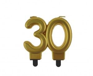 """auksine 30 Aukso spalvos žvakutė """"30"""""""