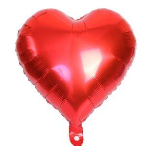 """sirdele raudona Folinis balionas """"Raudona širdis"""""""