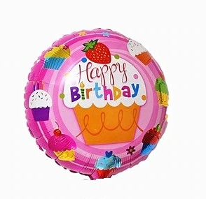 keksiukas happy Folinis balionas su keksiukais