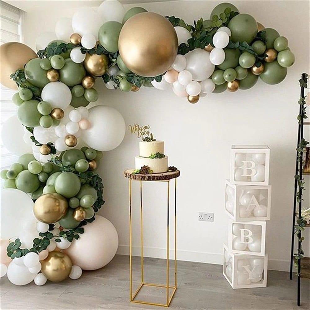 rinkinys zalias Balionų rinkinys balionų girliandai (žalia, auksinė, balta)