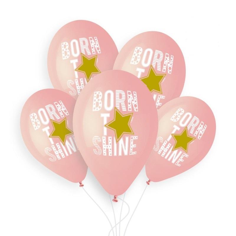 """born to shine girl Rožinis balionas """"Born to shine"""""""