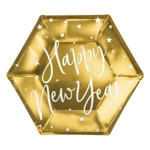 """lekstutes auksas new year 1 Lėkštutės """"Happy New Year"""""""
