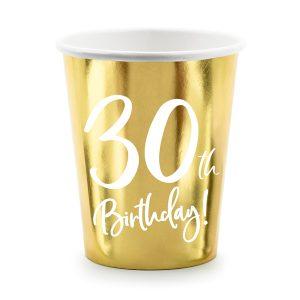 """puodelis 30 1 Vienkartiniai puodeliai """"30"""""""