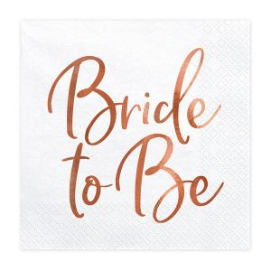 """serveteles bride 1 Servetėlės """"Bride to be"""" mergvakariui"""