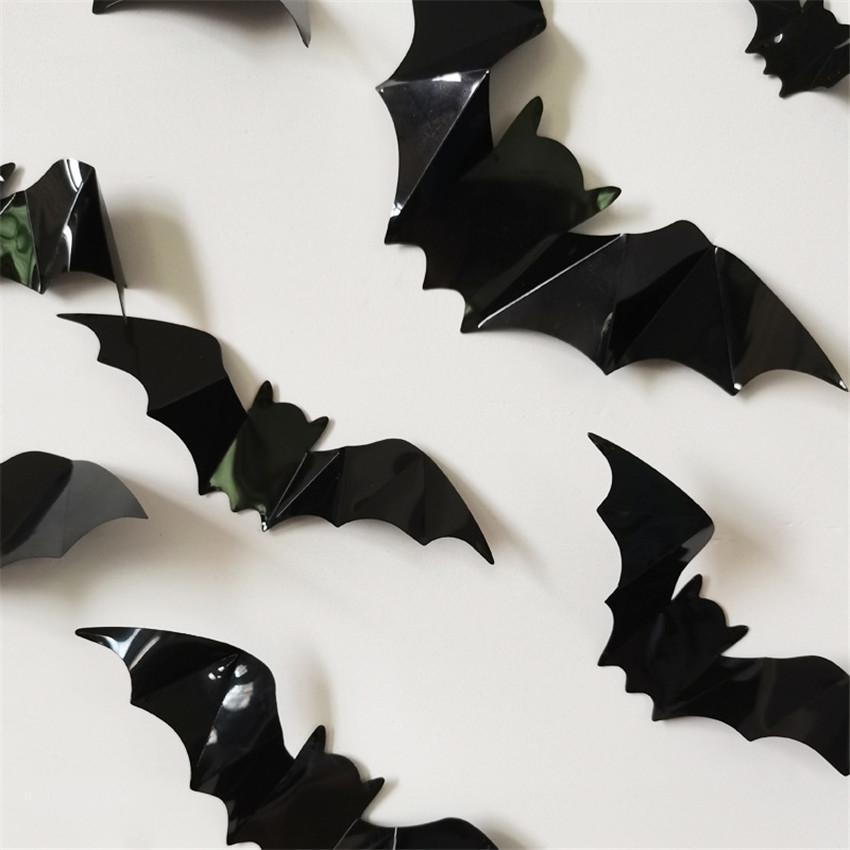 siksnosparniai dekoravimui 2 Šikšnosparniai Helovino šventės dekoravimui (16vnt.)