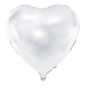 """sirdis balta 1 Folinis balionas """"Širdis"""" (balta)"""