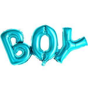 """uzrasas boy storas Folinis balionų užrašas """"BOY"""" (melsvas)"""