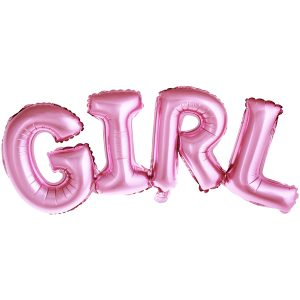 """uzrasas girl storas Folinis balionų užrašas """"GIRL"""" (rožinis)"""