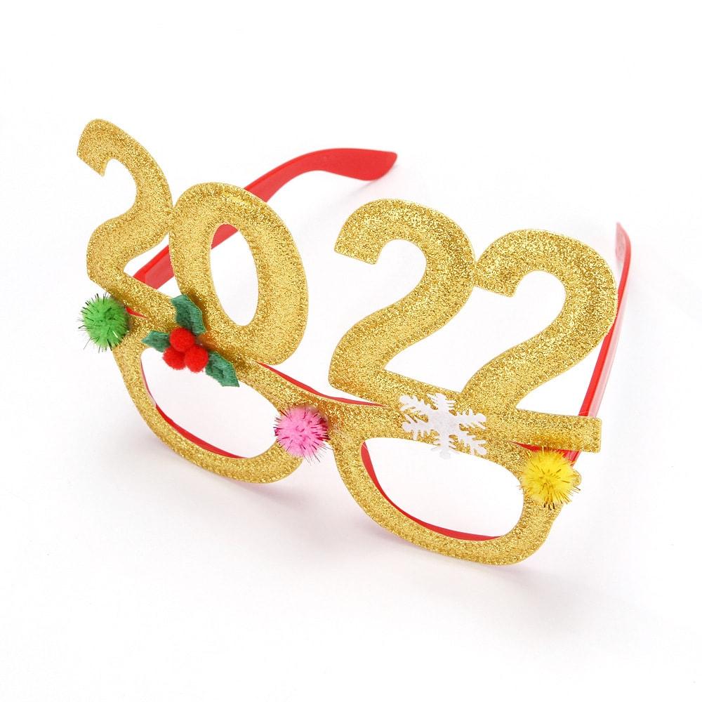 akiniai auksiniai 2022 Naujametiniai akiniai 2022