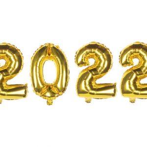 auksiniai 2022 Foliniai balionai 2022